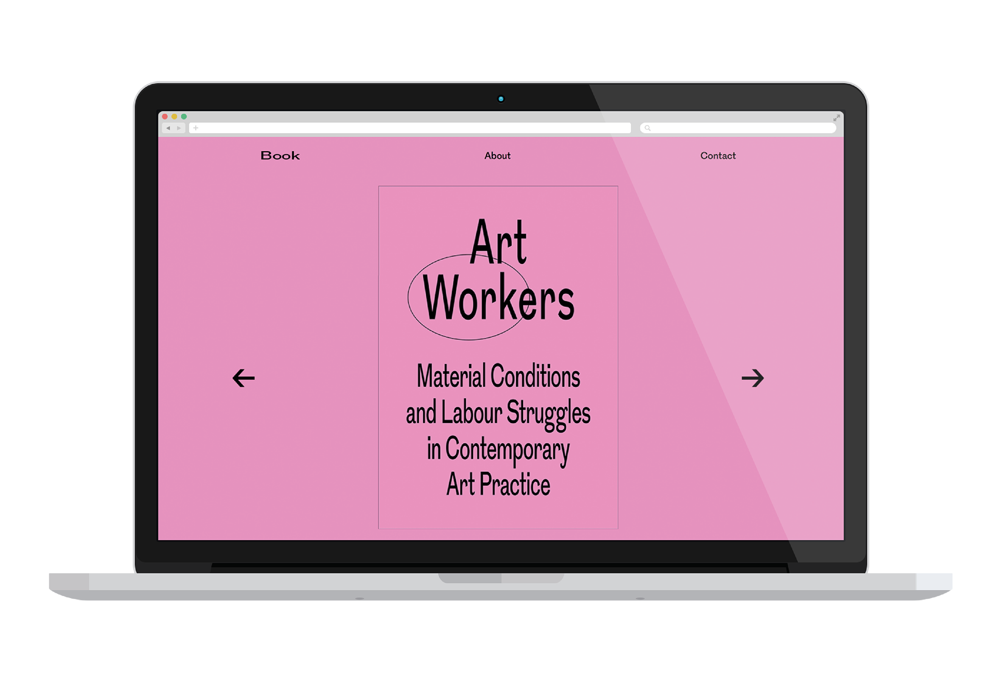 Art Workers website cover