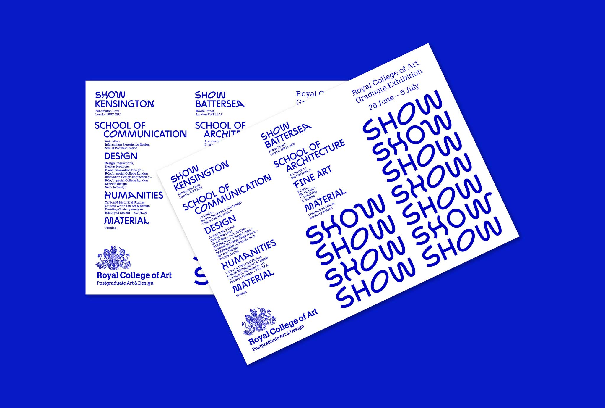 Royal College of Art show 2016 postcard