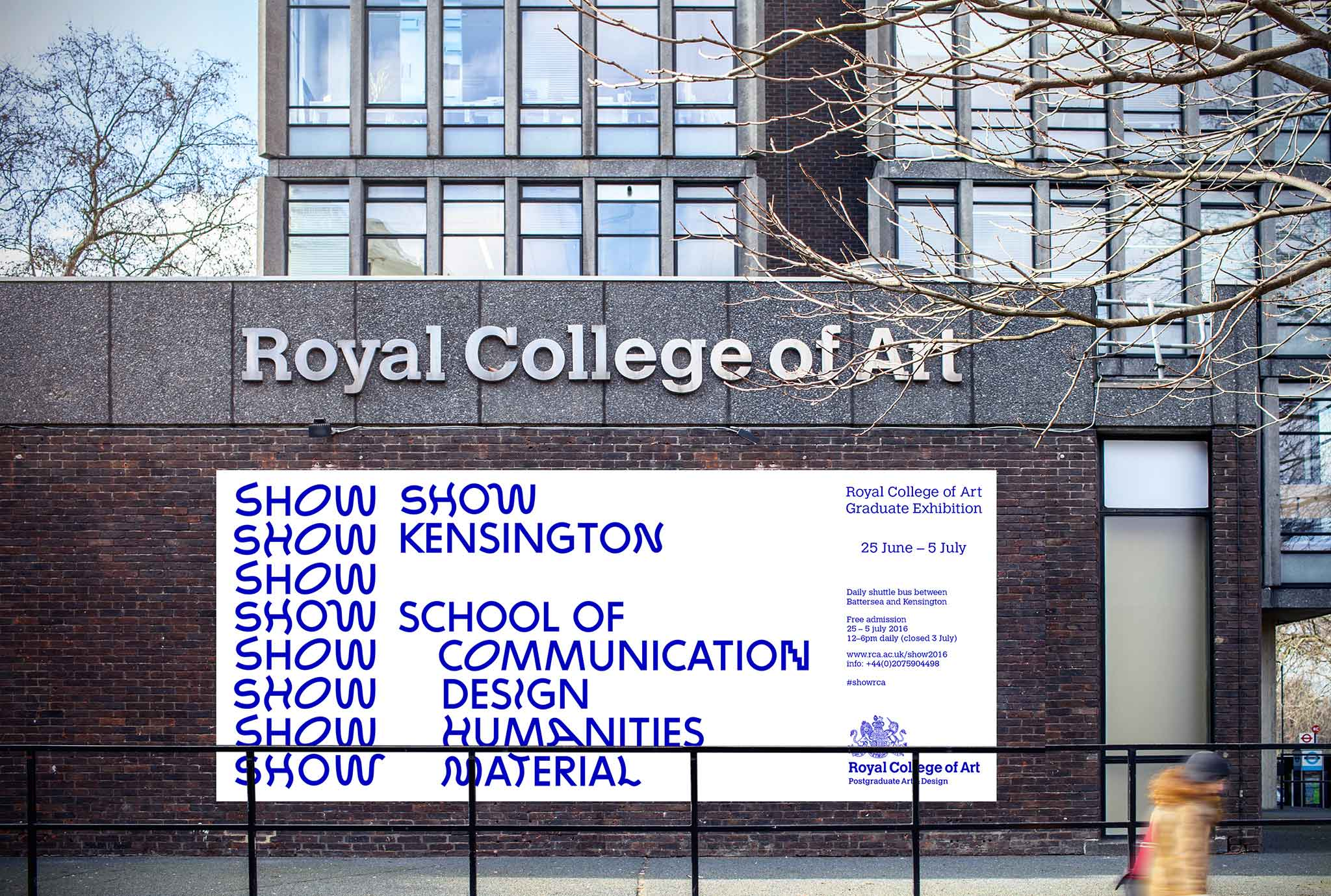 Royal College of Art show 2016 visual identity