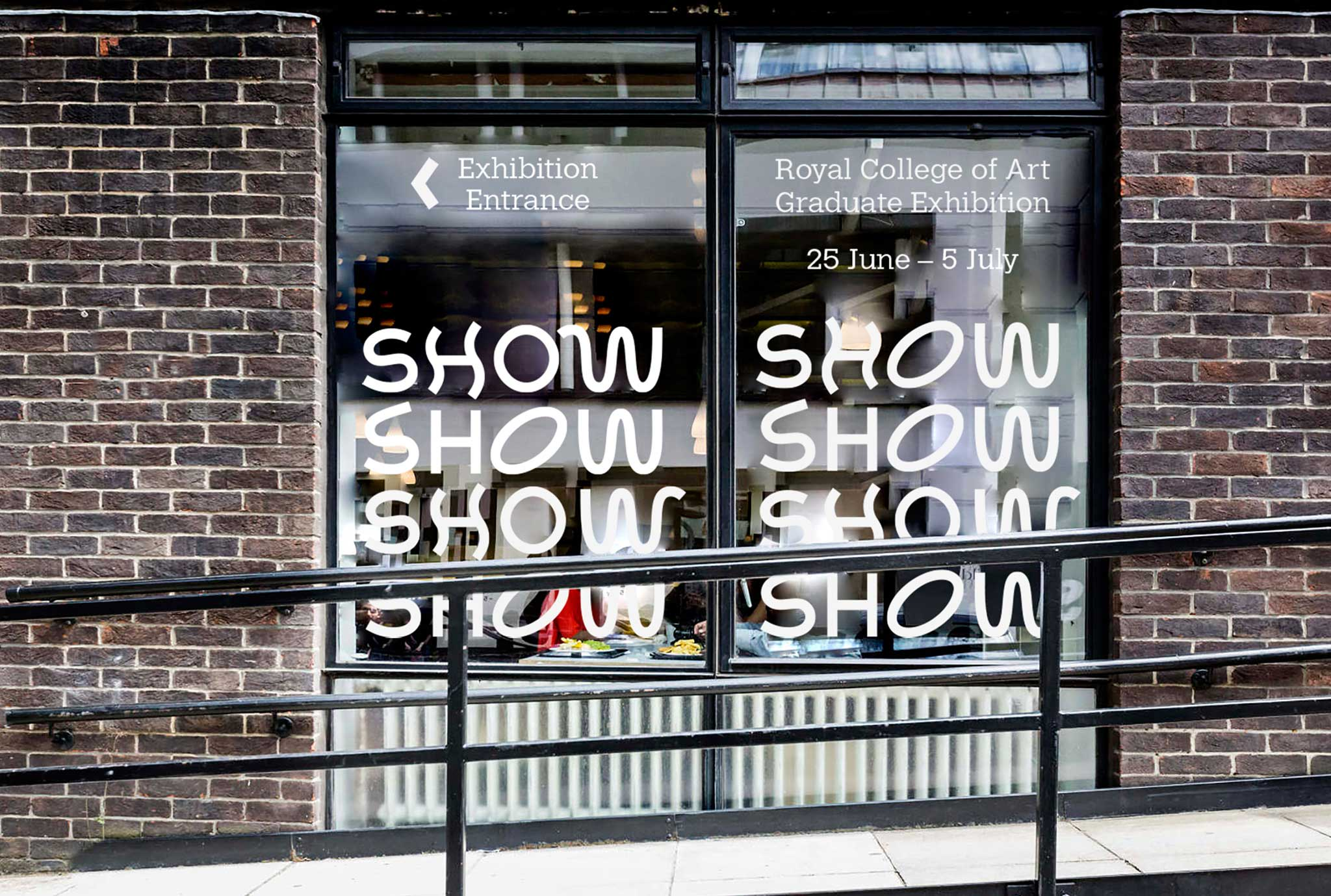 Royal College of Art show 2016 vinyl window